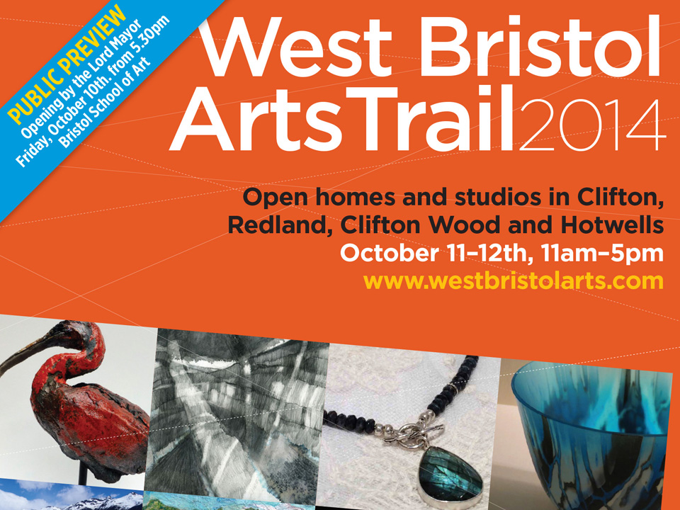 cover to A5 broadsheet guide to West Bristol Art Trail