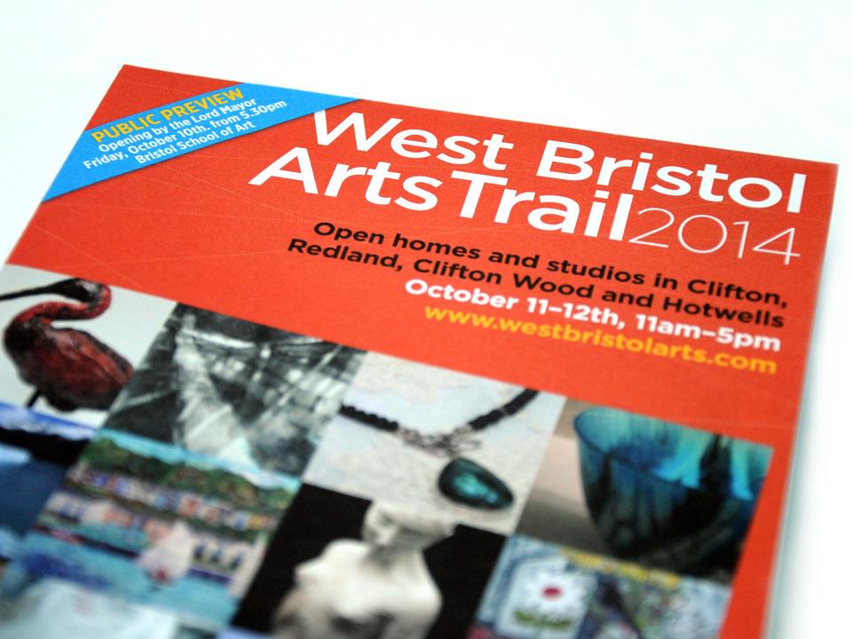 A5 broadsheet guide to Art Trail