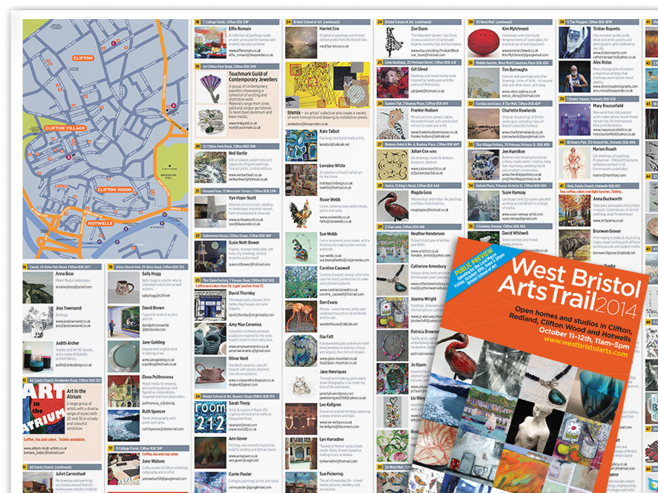 Art Trail 2014, guide to artists and venues