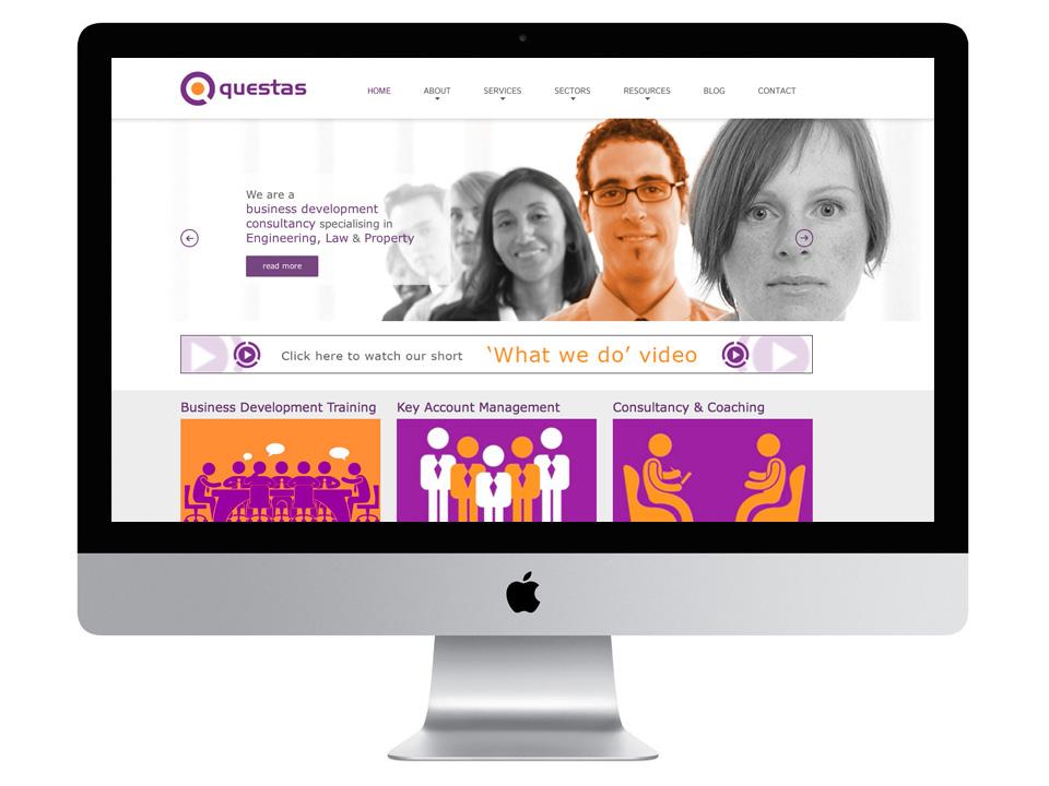 Questas logotype design and website