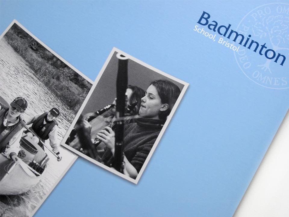 Badminton School senior prospectus, front cover
