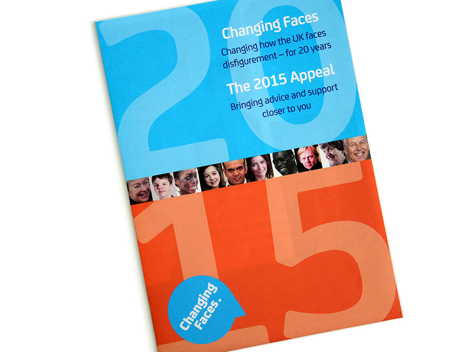 design and print, Changing Faces Appeal 2015