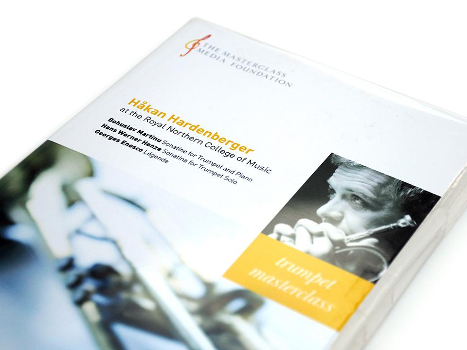 Masterclass Media Foundation DVD design for Haken Hardenberger