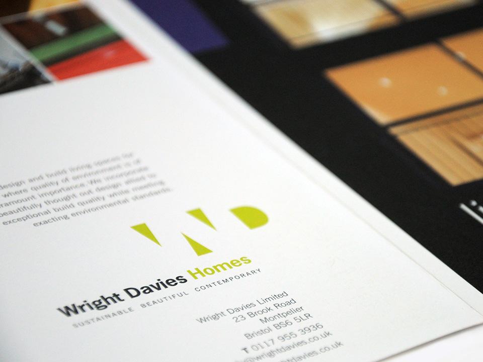 Wright Davies Homes logo design