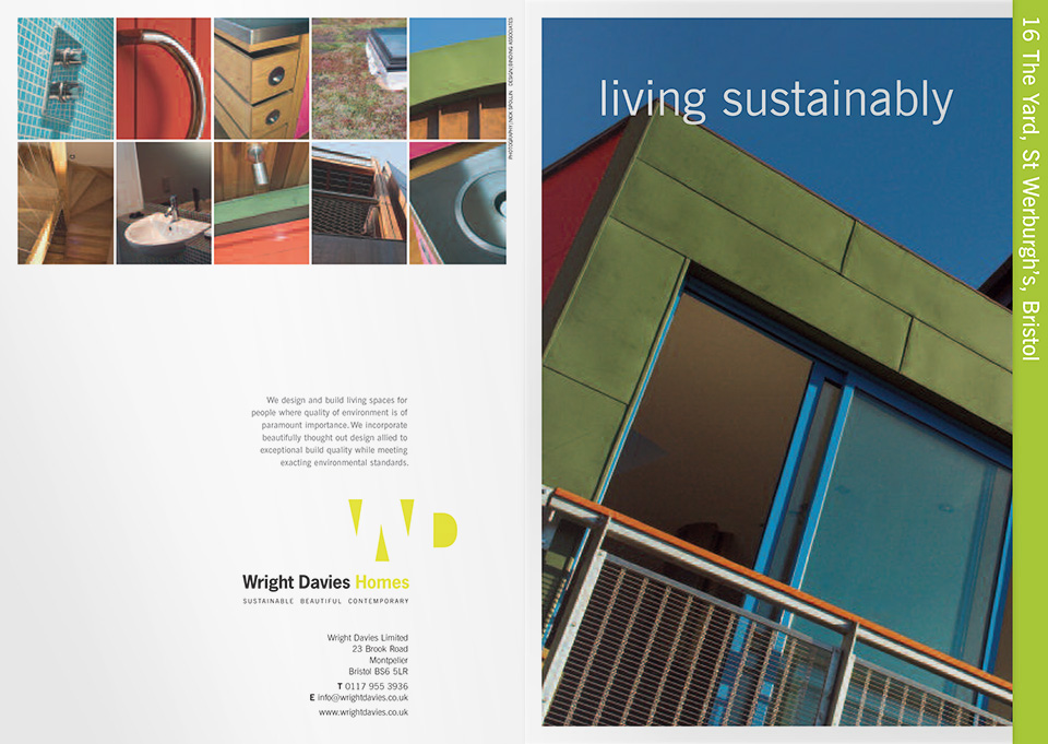 Wright Davies Homes sales brochures - front and back cover