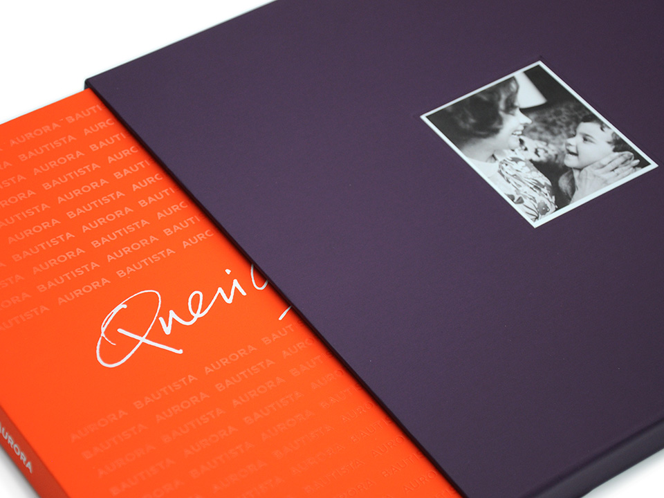 Slip case and front cover dust jacket design