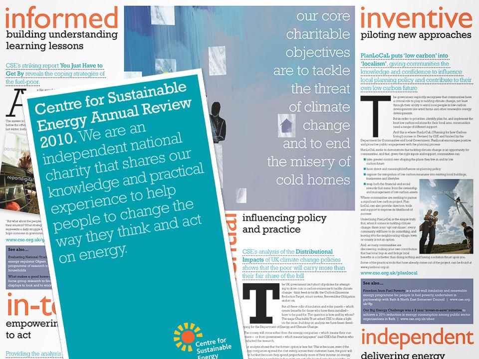 Design and print, CSE Annual Report