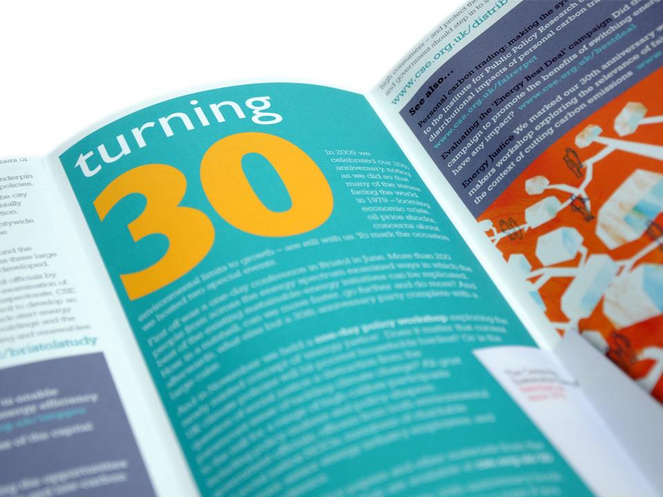 Annual Report, CSE's 30th anniversary