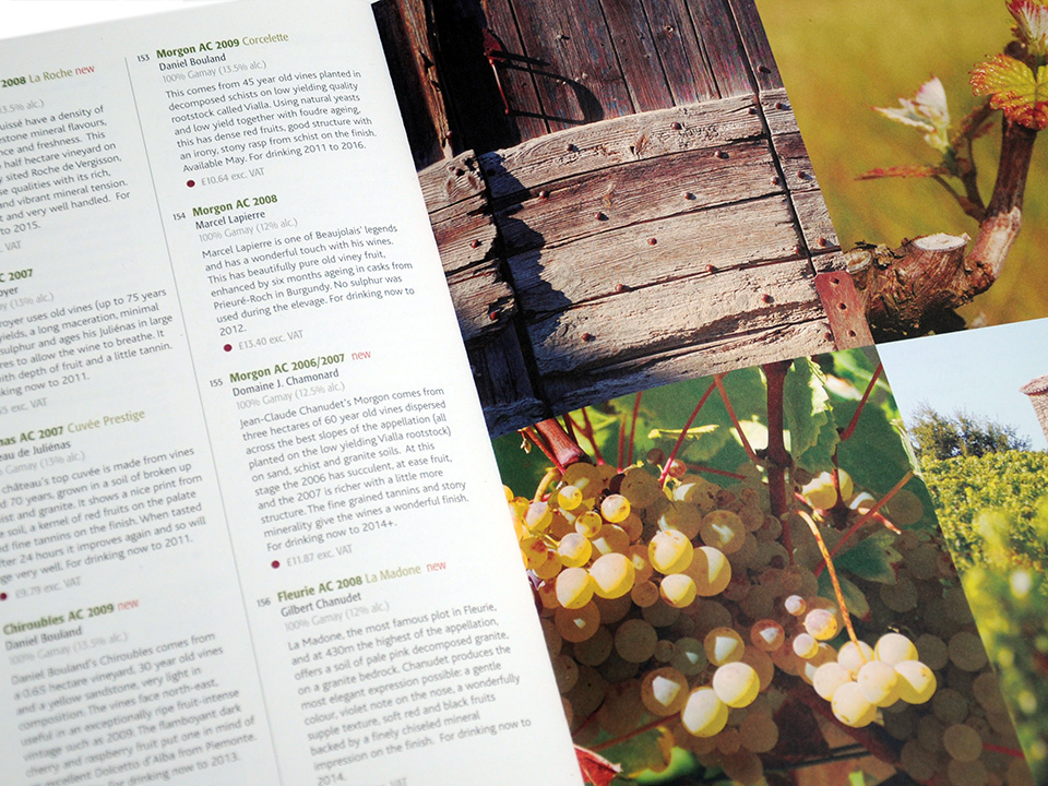 Vine Trail catalogue of wines