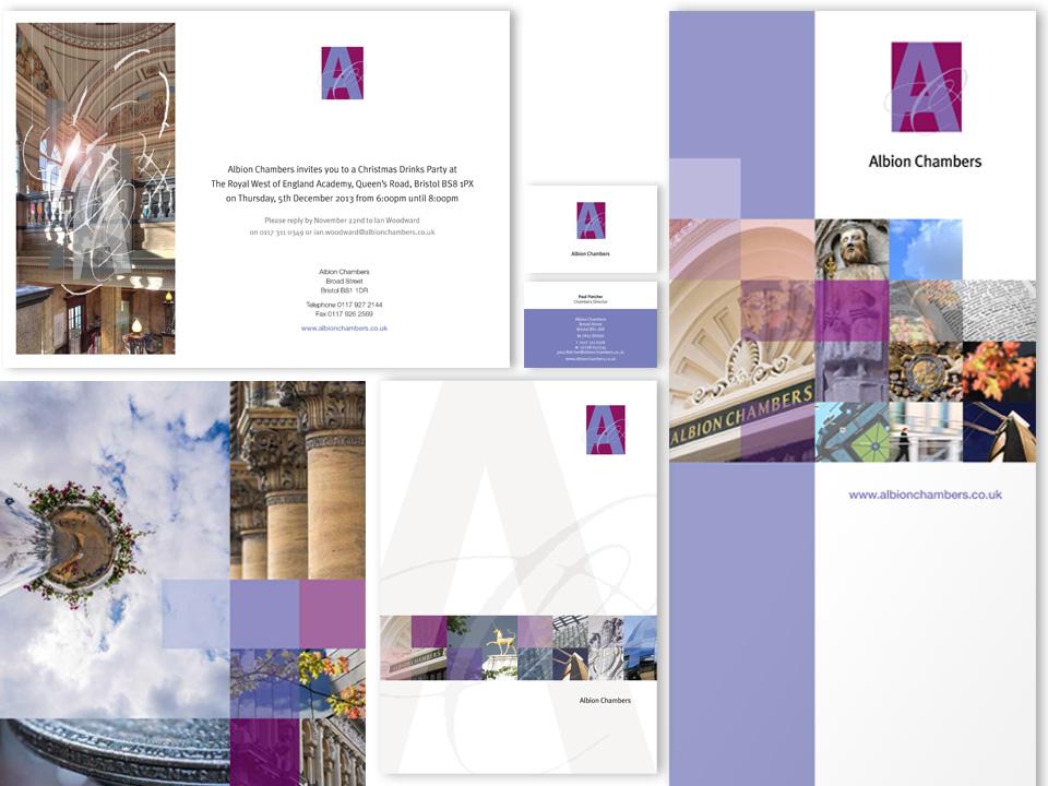 Albion Chambers print, bannerstand, RWA invitation, stationery