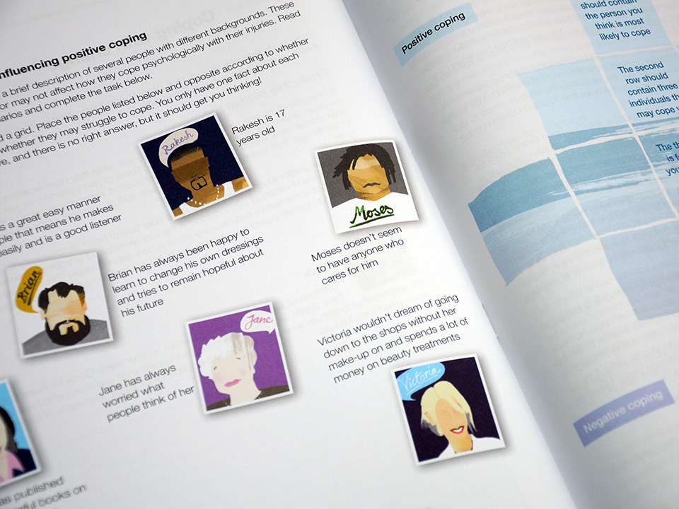 Changing Faces educational resource, design and print