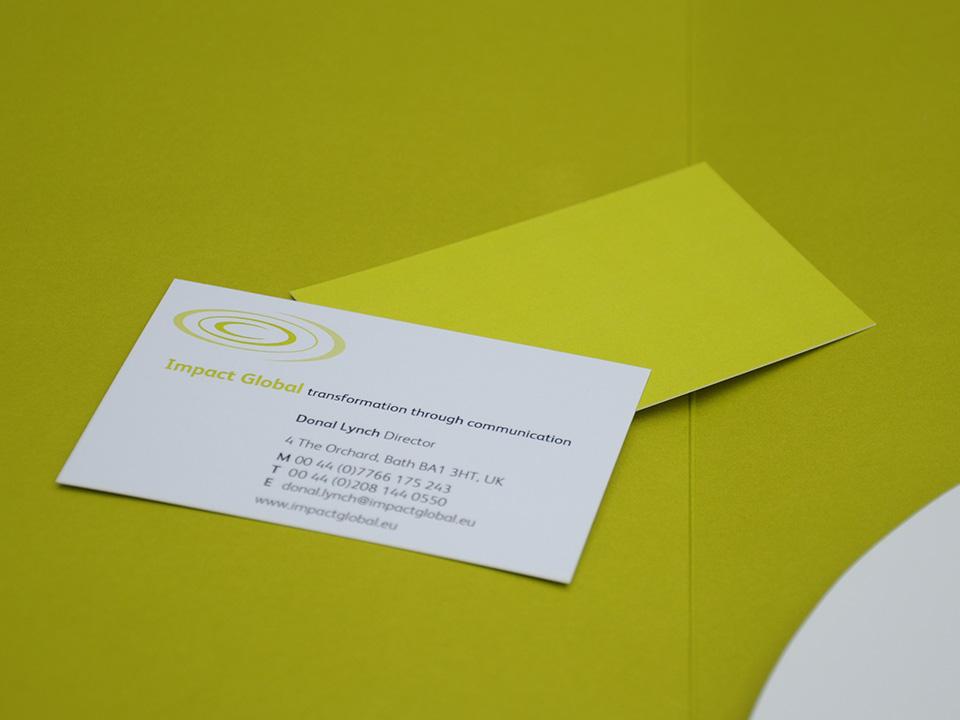 logotype design for Impact Global, transformation through communication