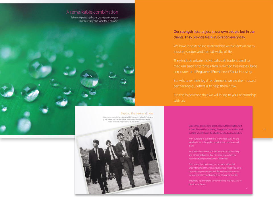 Corporate brochure for the legal profession