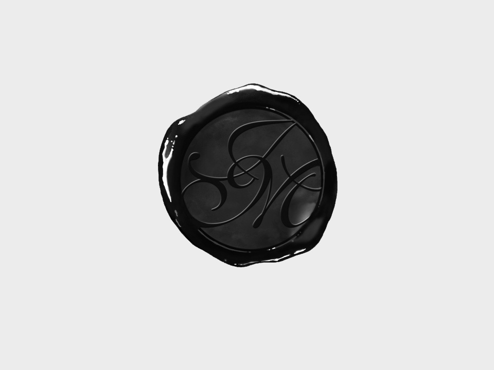 wax seal effect logo for John Moran Wine Merchant